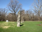 All Saints Parish Cemetery Chicago IL April 22 2013 sandstone angel hugging cross