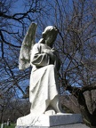 All Saints Parish Cemetery Chicago IL April 22nd 2013 cemetery angel arms crossed