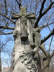 All Saints Parish Cemetery Chicago IL April 22nd 2013 tree stump monument WOW jesus
