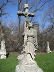 All Saints Parish Cemetery Chicago IL April 22nd 2013 unusual angel w jesus cross