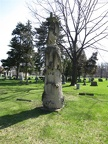 All Saints Parish Cemetery Chicago IL April 22nd 2013 WOW tree stump angel cross